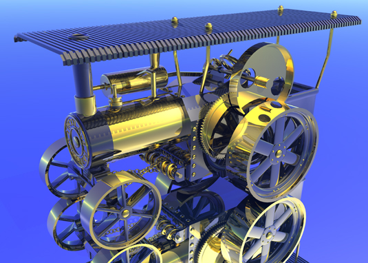 3D Art Design - Steam Engine